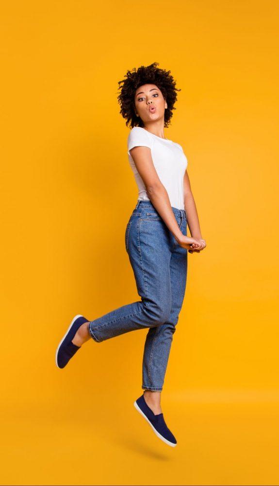Full,Length,Body,Size,Side,Profile,Photo,Jumping,High,Beautiful